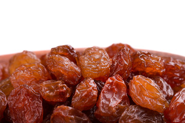 Fresh sweet raisins close-up