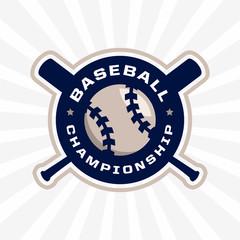 modern professional emblem for baseball game tournament