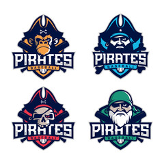 Modern professional set emblem pirates for baseball team