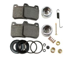 Brake pads, springs. Isolate on white