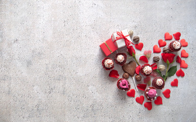 Fototapete - Valentines gift heart