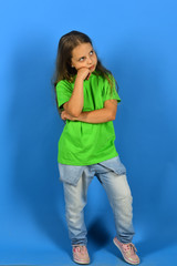 Kid poses as Bgirl in cool style.