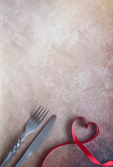 Romantic meal background