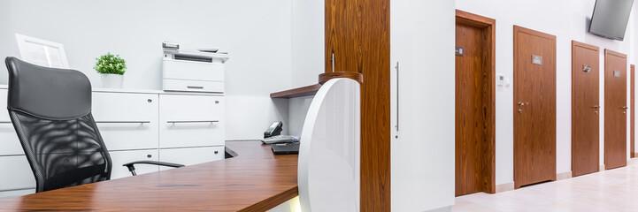 Modern reception interior