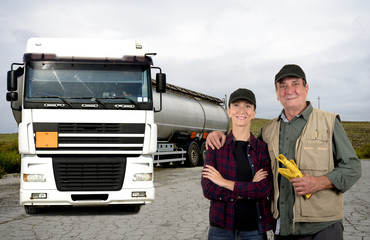Father and daughter truck drivers