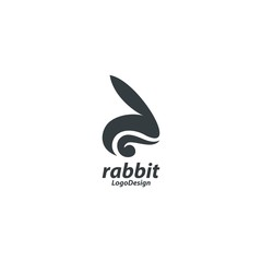 Bunny Logo, Rabbit Logo, Cool Rabbit Bunny Design Logo Vector