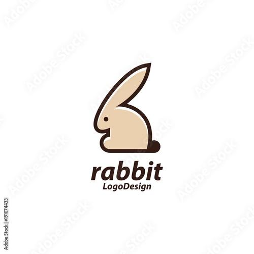 Rabbit Logo Rabbit Sitting Logo Animal Design Logo Vector Stock