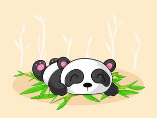 Schlafender Comic Panda