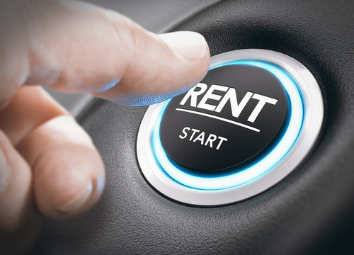 Car or Motorhome Rental Concept, Rent a Vehicle.