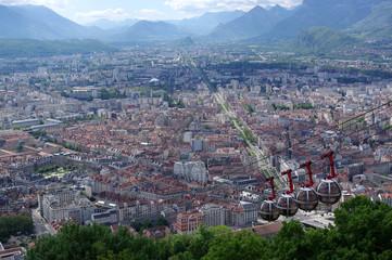 vue sur Grenoble depuis la bastille