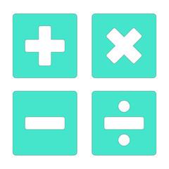 mathematical symbols vector icon