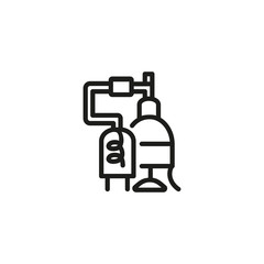 Alcohol Factory Line Icon