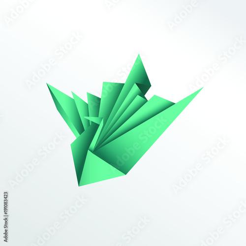 Origami Peacock Paper Art