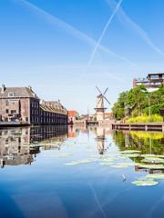 Windmühle in Schiedam, Rotterdam, Niederlande, Europa