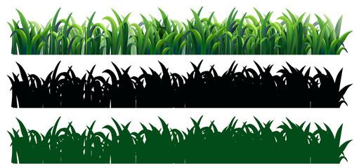 Seamless grass in three styles