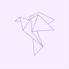 Origami bird paper art