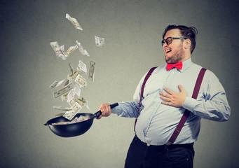Man having prosperous restaurant business