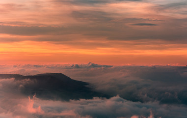 El mar de nubes.Vista dezde el mirador de Monreal, Navarra