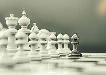 Schach weiß gegen schwarz