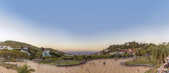 Belo Horizonte, Minas Gerais, Brazil. Panoramic View from Popes Square