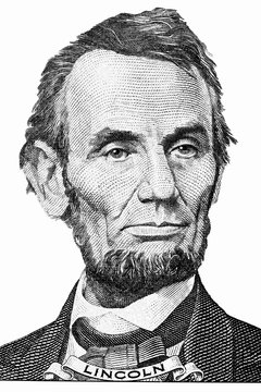 The face of Lincoln the dollar bill