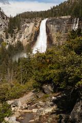 Waterfall in Yosemite.
