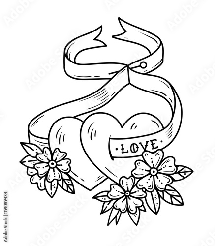 Flowers Ribbon Tattoo Flowers Healthy