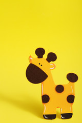 Yellow Giraffe Background