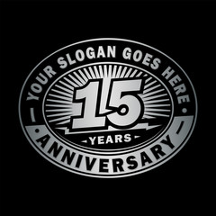 15 years anniversary design template. Vector and illustration. 15th logo.