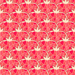 Seamless pomegranate pattern.