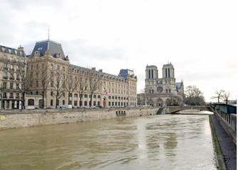 Inondations de la Seine,Paris hiver 2018. Crue de la Seine, Paris (France).