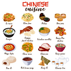 Chinese Food Cuisine Illustration