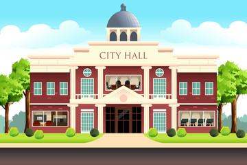 City Hall Building Illustration