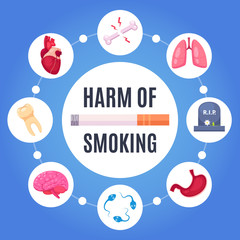 Harm Of Smoking Design Concept