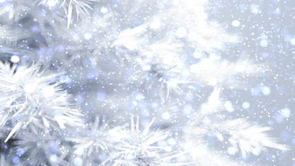 Christmas, background with a Christmas tree. 3d illustration, 3d rendering.