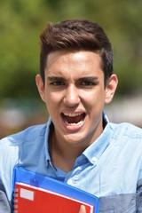 Hispanic Male Student Under Stress