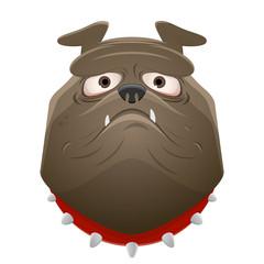 funny bulldog clipart vector