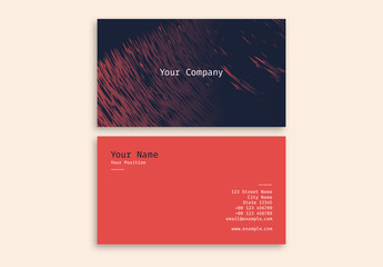 Crosshatch Abstract Business Card Layout