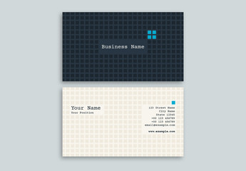 Light and Dark Grid Business Card Layout