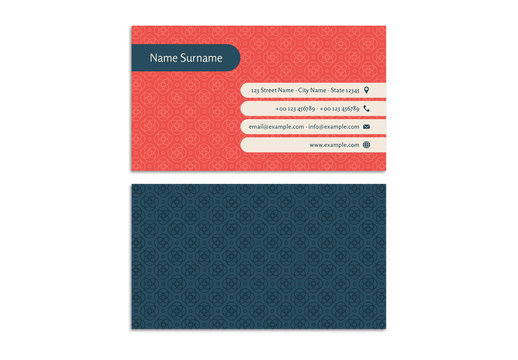 Circular Patterned Business Card Layout