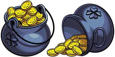 Leprechauns pots of gold