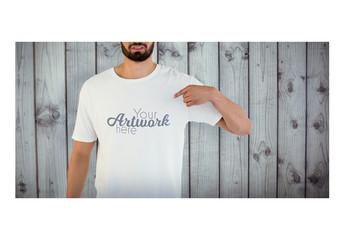 Man in White T-Shirt Mockup 5