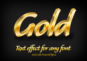 Gold Text Style 4