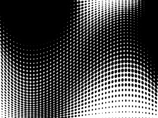 Abstract monochrome halftone pattern. Futuristic panel. Gunge dotted backdrop with circles, dots, point.