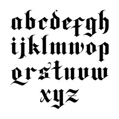 gothic vector font