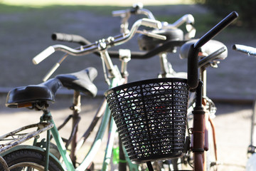 beautiful bicycles old fashioned outdoor Buenos Aires Argentina
