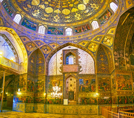 The prayer hall of Bethlehem church in Isfahan, Iran