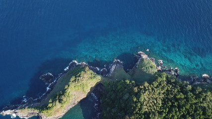 Coastline and sea, aerial photo