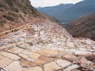 Maras salt ponds.  Sacred Valley Peru