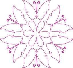 flower and butterl design